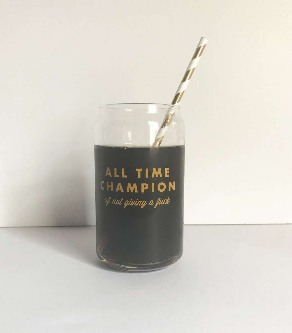 All Time Champion Drinking Glass | 16 Oz.