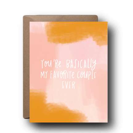 Favorite Couple Wedding Greeting Card | A2