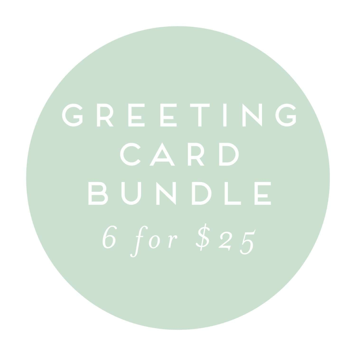 6 Pack | Greeting Card Bundle| A2