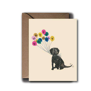 Black Lab Puppy Birthday Greeting Card | A2