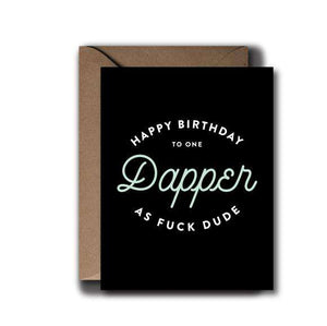 Dapper Dude Birthday Greeting Card | A2