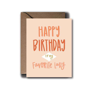 Favorite Lady Birthday Greeting Card | A2