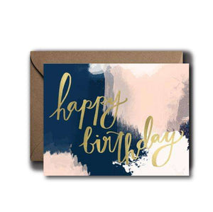 Watercolor Script Birthday Greeting Card | A2