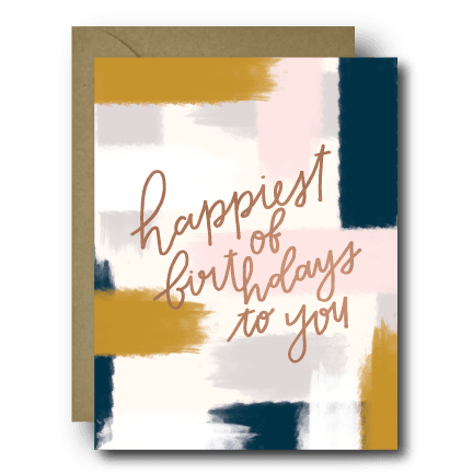 Happiest of Birthdays Birthday Greeting Card | A2
