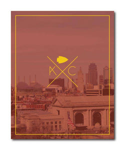 Kansas City Red Skyline Wall Art Print