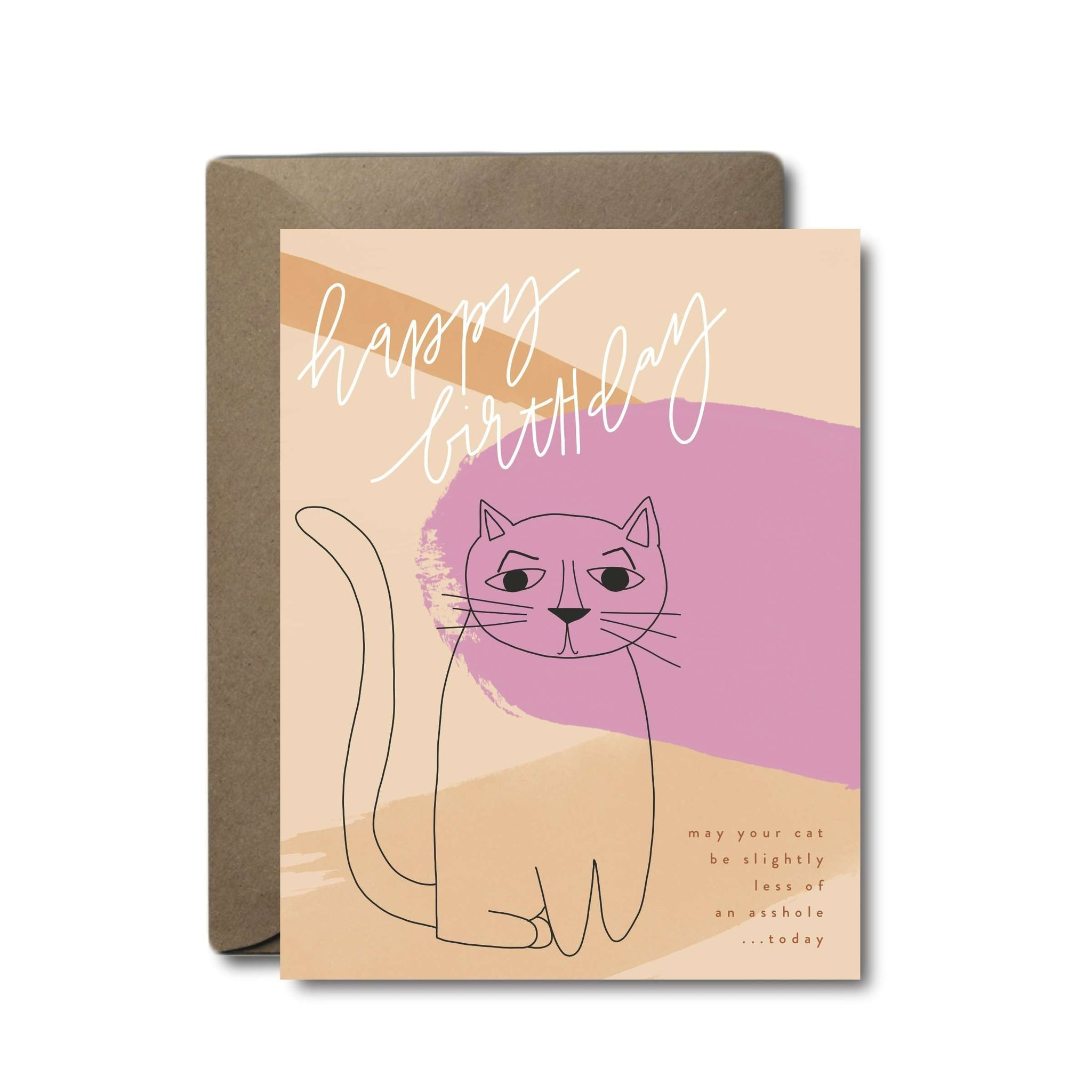 Asshole Cat Birthday Greeting Card | A2