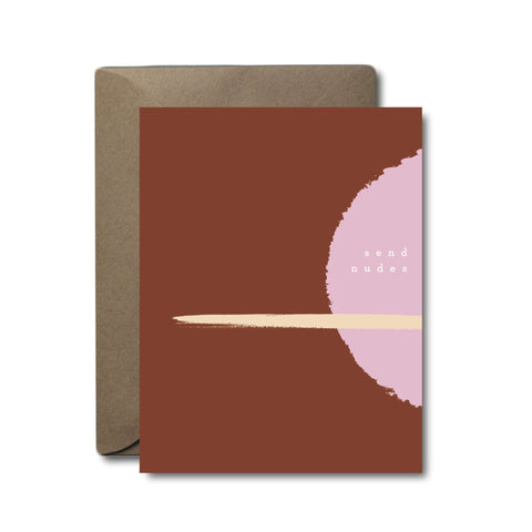 Send Nudes Love Greeting Card | A2