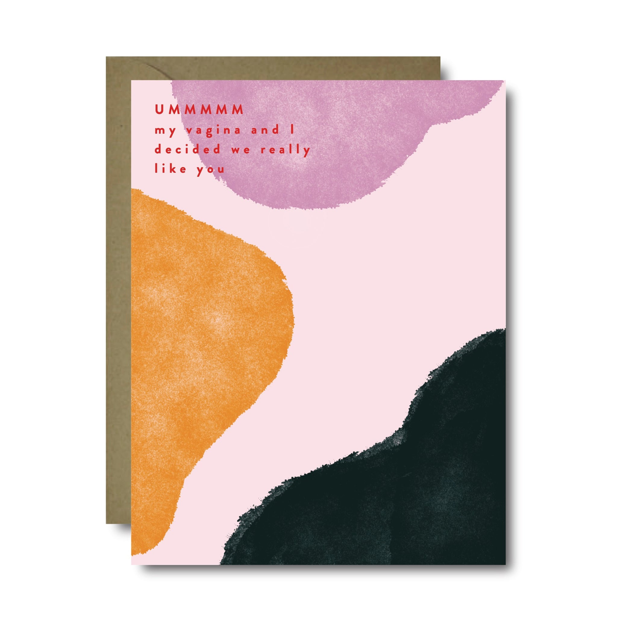 Vagina Likes You Love Greeting Card | A2