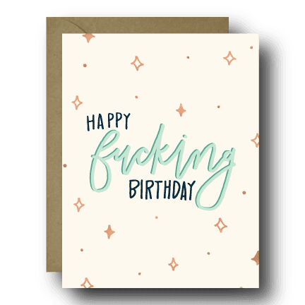 Magical Happy Fucking Birthday Greeting Card | A2