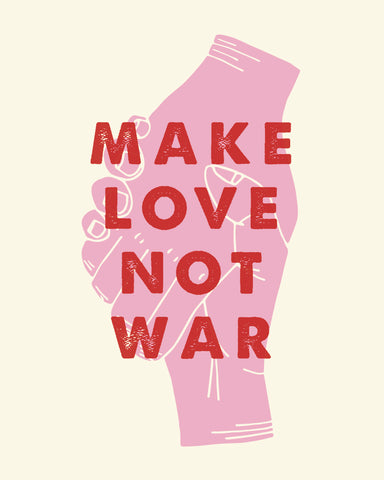 KC Relief Make Love Not War 11x14 Art Print
