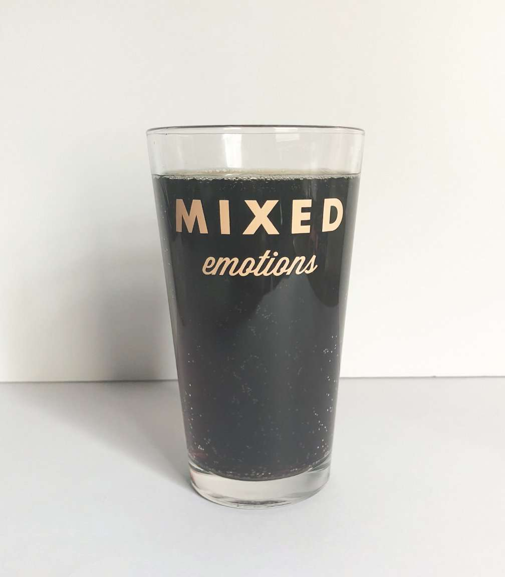 Mixed Emotions Drinking Glass | 16 Oz.