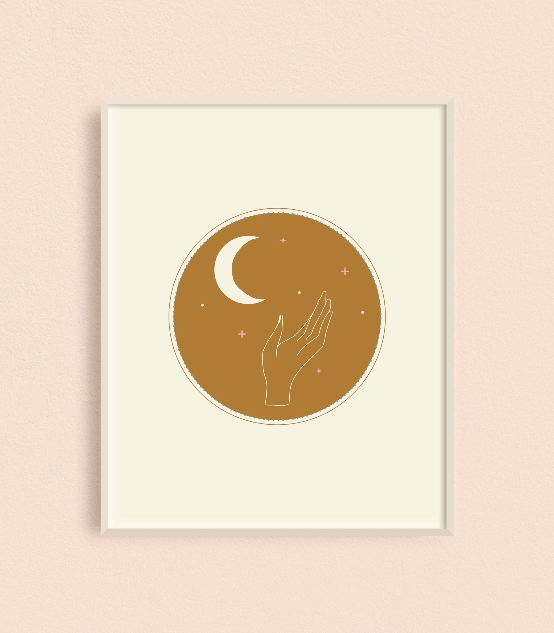 KC Relief Hand Moon 11x14 Art Print