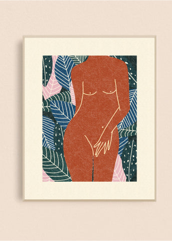 Jungle Nude 8x10 Art Print