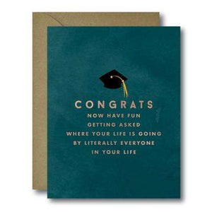 Congrats Where's Your Life Going Grad Seasonal Greeting Card | A2