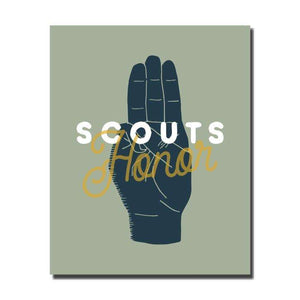Scouts Honor Wall Art Print