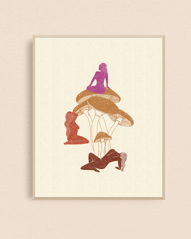 Ladies Who Shroom 8x10 Art Print