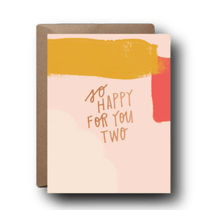 So Happy For You Two Wedding Greeting Card | A2