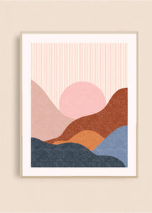 Striped Desert 8x10 Art Print