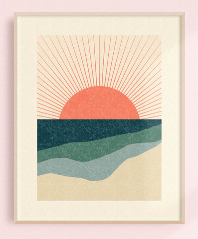 Sunburst Fields 8x10 Art Print