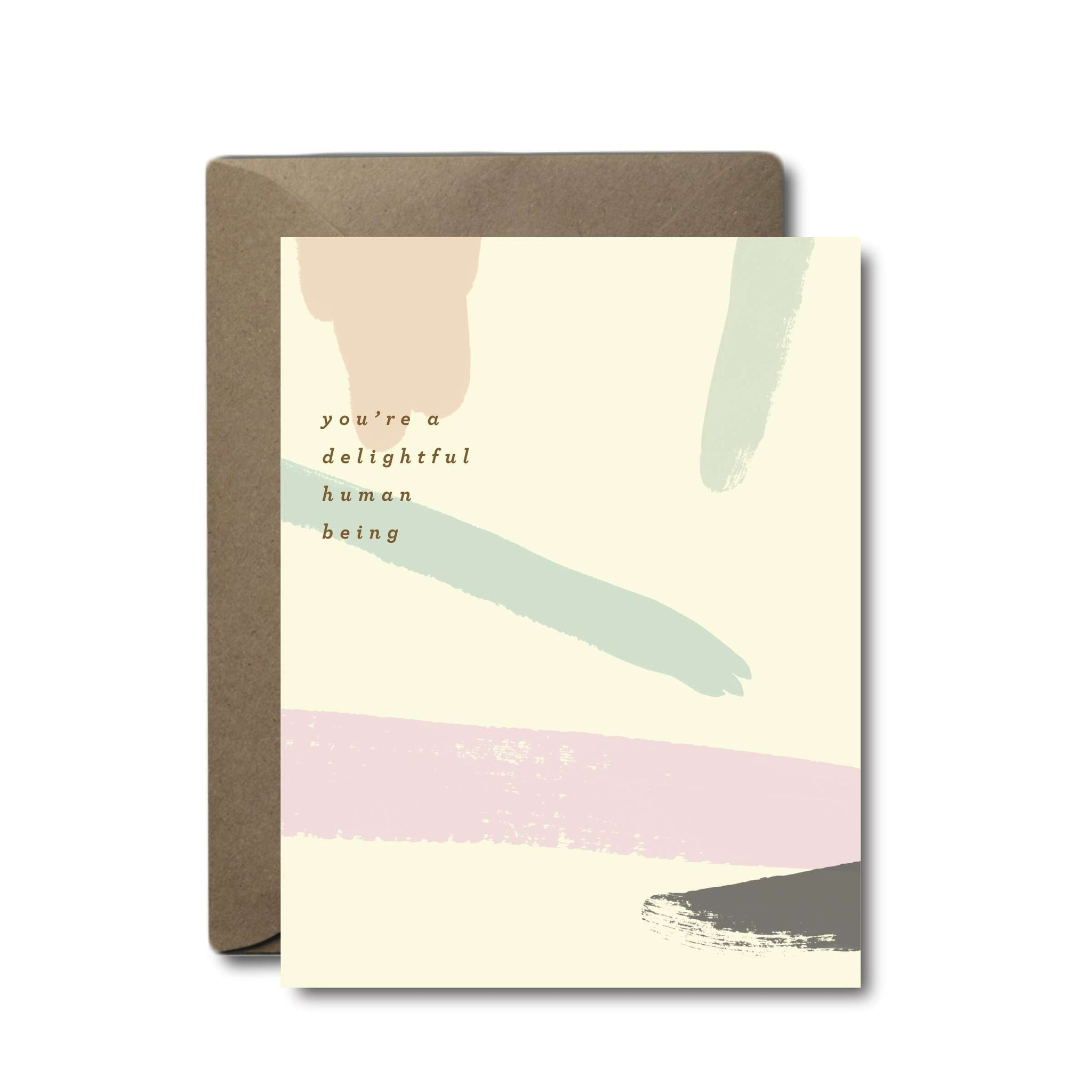 Delightful Human Being Thank You Greeting Card | A2