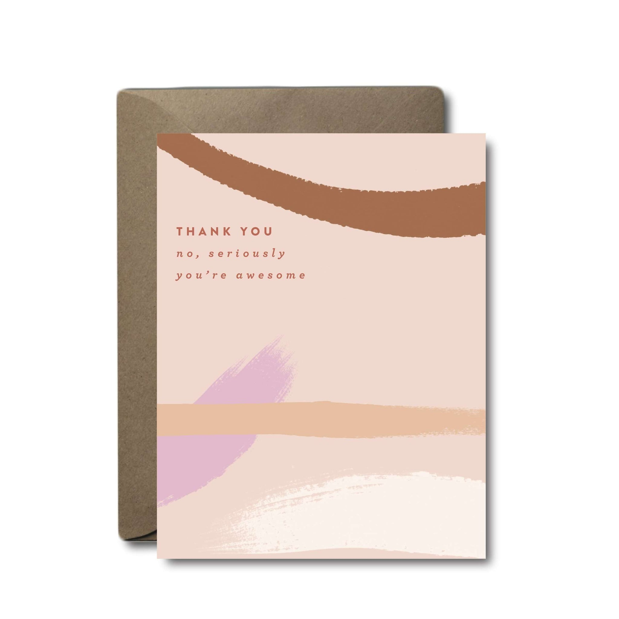 Seriously You're Awesome Thank You Greeting Card | A2