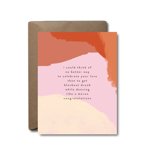 Blackout Wedding Greeting Card | A2