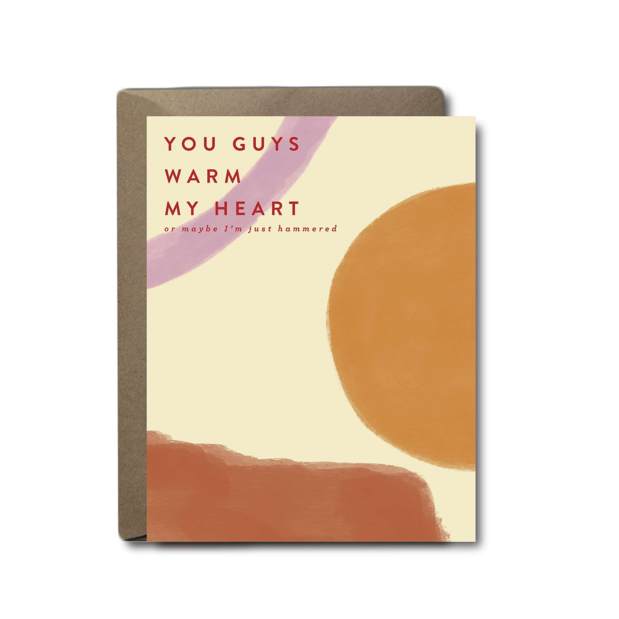 Warm My Heart Or Just Hammered Wedding Greeting Card | A2