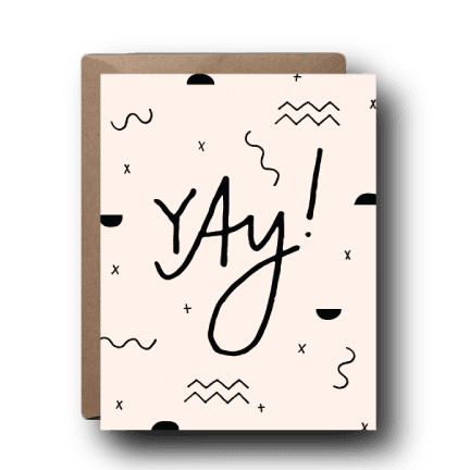 Yay Objects Congratulations Greeting Card | A2