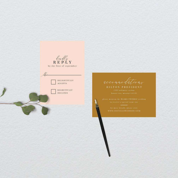Chic Abstract Wedding Suite
