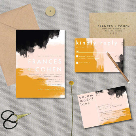 Abstract Sunset Wedding Suite