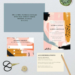 Playful Bold Abstract Wedding Suite