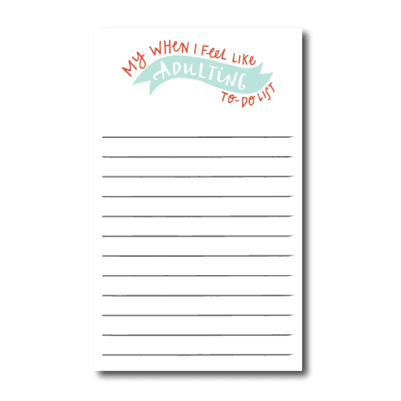 Adulting To Do Notepad | 4.25x7 | 50 Sheets