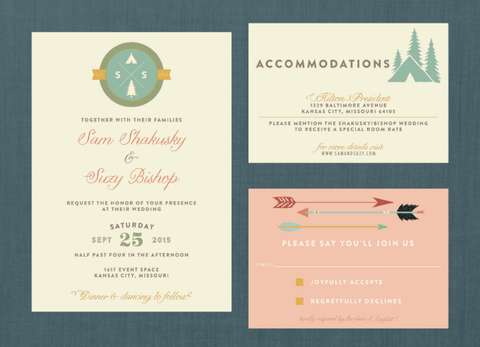 Whimsical Outdoors Camp Wedding Suite