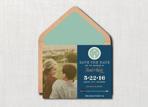 Whimsical Outdoors Camp Photo Save the Date