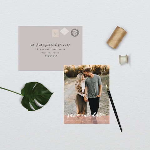Classic Blush Photo Save the Date