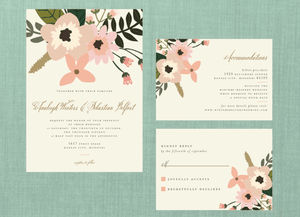 Whimsical Blush Floral Wedding Suite