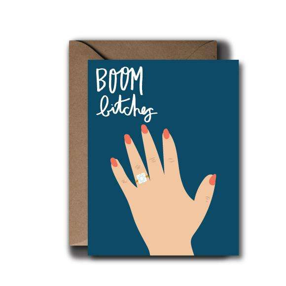 Boom Bitches Wedding Greeting Card | A2