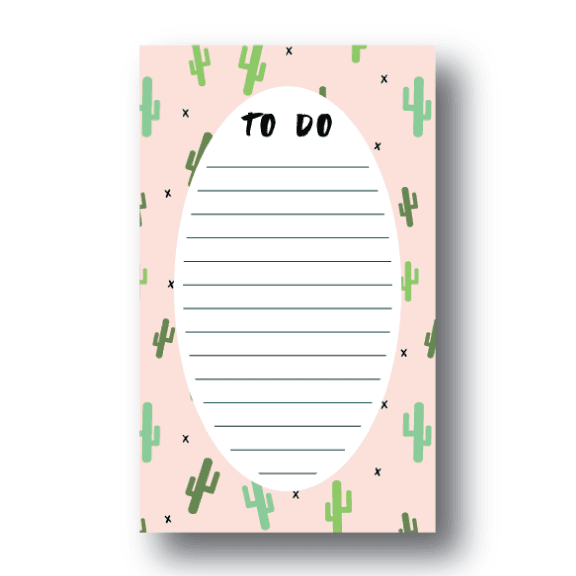 Whimsical Cactus Notepad | 4.25x7 | 50 Sheets