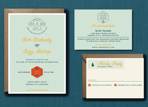 Whimsical Camp Icon Wedding Suite