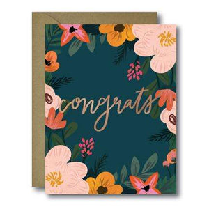 Floral Botanical Congratulations Greeting Card | A2