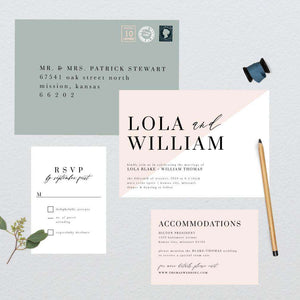 Classic Colorblock Wedding Suite
