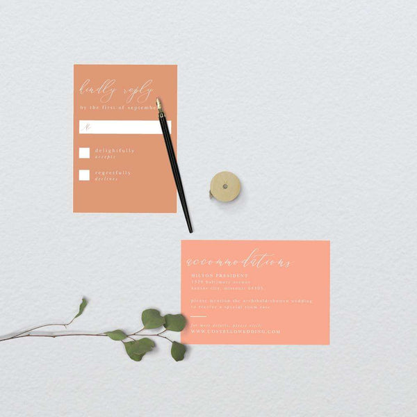 Coral Ombre Wedding Suite
