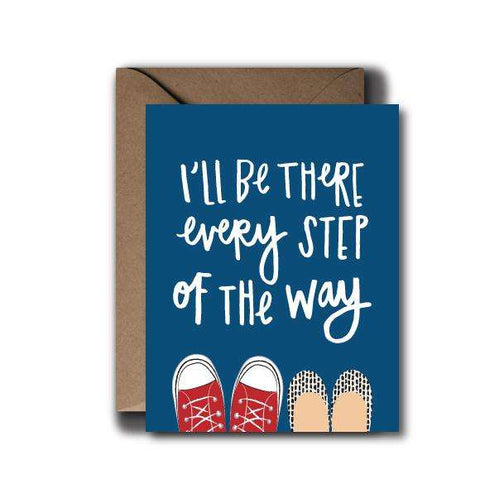 Every Step Of The Way Encouragement Greeting Card | A2