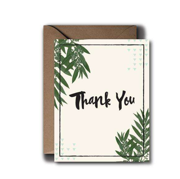 Whimsical Fern Thank You Greeting Card | A2