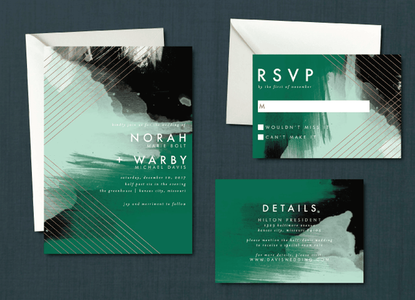 Modern Abstract Geometric Wedding Suite