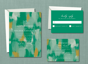 Modern Abstract Paint Strokes Wedding Suite