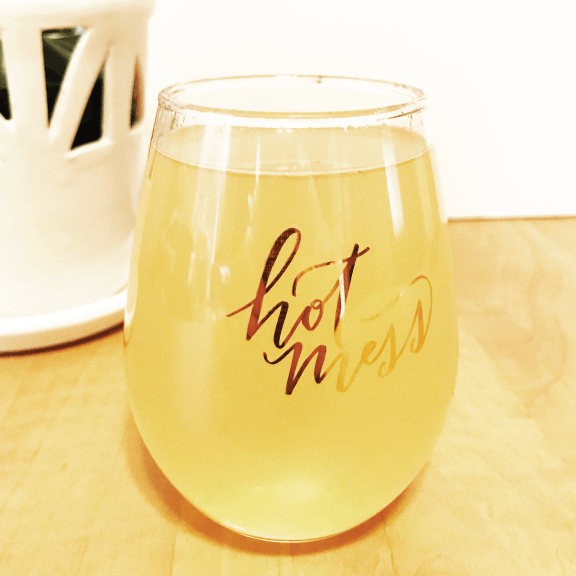 Hot Mess Stemless Wine Glass - 12 Oz.