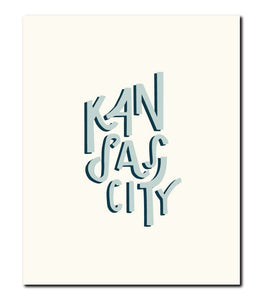 Kansas City Shadow Wall Art Print