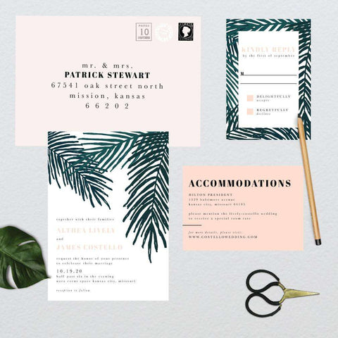 Tropical Leaves Wedding Suite