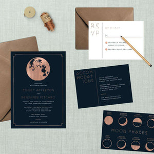 Lunar Moon Phases Wedding Suite